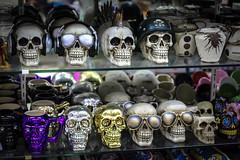 Crazy Skulls (eskayfoto) Tags: canon eos 700d t5i rebel canon700d canoneos700d rebelt5i canonrebelt5i lanzarote playablanca canaryislands islascanarias lightroom sk201801218089editlr sk201801218089 skull shop store novelty gift crazy silly niftyfifty nifty fifty