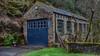 Repaired Shop (_J @BRX) Tags: garage repairshop blue stone riverryburn rippondon calderdale yorkshire england uk february2018 winter hdr nikon d5100