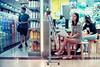 Chinatown Shoppers (Jon Siegel) Tags: nikon nikkor people 50mm 12 f12 nikon50mmf12ais nikon50mm12 nikon50mmf12 women woman beautiful chinatown chinese singapore singaporean peoplesparkcomplex peoplespark night evening street candid bokeh d750