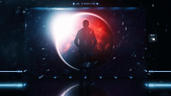 Farewell (RaY29rus) Tags: earth planet space apocalypse art spaceship silhouette