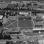 University Plaza from the air in the 1950s.