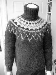 Icelandic mohairstyle wool sweater (Mytwist) Tags: woolfetish wool turtleneck knit fashion fair fetish design style craft cozy chunkysweater bulky retro fisherman lopi ullarpeysa peysa faroe mohair