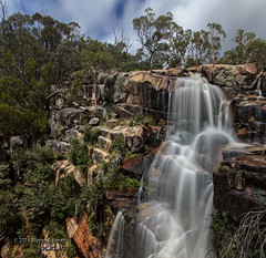 Gibraltar Falls #1 (317818WLJ) Tags: gibraltarfalls canon5dmk2 canon1740f4l canberra act australia water smooth silky longexposure falls february 2018 red blue