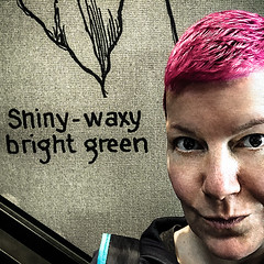 The colour of growth (Melissa Maples) Tags: antalya turkey türkiye asia 土耳其 apple iphone iphone6 cameraphone square 11 me melissa maples selfportrait woman shorthair pinkhair starbucks shinywaxybrightgreen text