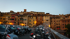 Siena (FrancescoPalmisano) Tags: italia italianlandscape italien italy motorcycles siena toscana tuscany cars centrostorico goldenhour landscape paesaggioitaliano parcheggio parking sundown sunset tramonto travel urbanexploration