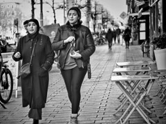 mother and daughter (digitris) Tags: people mother daughter candid street monochrome bw blackandwhite digitris digitri