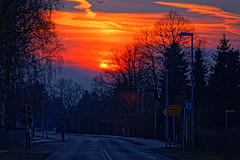fire and Ice, Feuer und Eis (W@llus2010) Tags: grosmoor frost sonnenuntergang hauptstrase dxo hdr singleshothdr raw