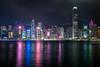 Hong Kong Night (fredrik.gattan) Tags: hk hong kong night reflections lights long exposure skyscrapers highrise city cityscape landscape china neon light colorful waterfront water skyline evening