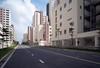 . (Out to Lunch) Tags: thu thiem district 2 saigon ho chi minh city vietnam new development area urbanite urban high rises apartments street sky blue fuji xt1 voigtlander superwideheliar iii 4515mm