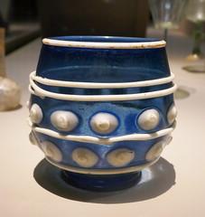 Vase reliquaire de Saint Savin, France 11th Century (Monceau) Tags: muséedecluny exhibition glass middleages vase reliquaire saintsavin blue white dots lines 11thcentury macro