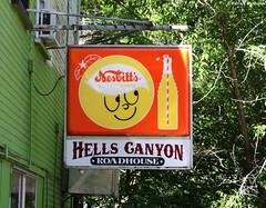 Hells Canyon Roadhouse - Imnaha - Oregon (Electric Crayon) Tags: sign vintage old classicsign hellscanyon roadhouse nesbitts sodapop pacificnorthwest oregon easternoregon wallowacounty imnaha usa unitedstates america electriccrayon patrickmcmanus