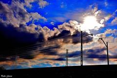 Via del ferrocarril (Peideluo) Tags: rail sunset siluet silueta sky clouds landscape cielo