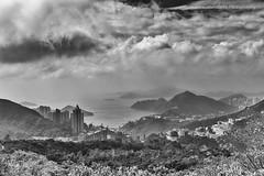 Hong Kong Landscape (57Andrew) Tags: battlefieldwalk hongkong fujix100f bw landscape blackandwhite monochrome dramatic
