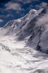 Swiss Alps Above Zermatt: May 1990 (mharoldsewell) Tags: 1990 2018 georgia may mountains swissalps zermatt glacier mharoldsewell mikesewell mountain photos scanned slides