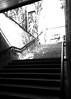 Subway steps (Mr Exploding) Tags: munich münchen bavaria bayern germany deutschland vignette vignetteforandroid monochrome blackandwhite olympiazentrum ubahnmünchen ubahn steps entrance exit