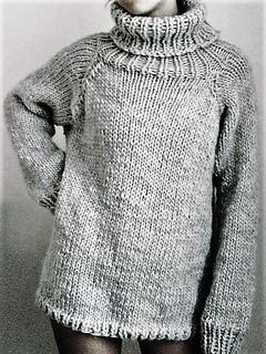 Casual turtleneck - weekend knitwear