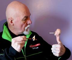 Got a Light (Ozzy Delaney) Tags: smoke cigarette match flame smoking man bald goatee beard hand fingers thumb art specialeffect
