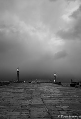 Weather App says sunny today - really. (daveseargeant) Tags: whitby yorkshire north monochrome weather leica x typ 113 blackandwhite bw