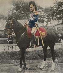 Tsar Nicholas II on his morning ride (1904) (frankmh) Tags: royalty russianroyalty romanov nicholasii horse riding tsarskoyeselo russia imperialrussia
