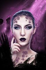 purple copy (Palmsgb) Tags: woman face purple photoshop