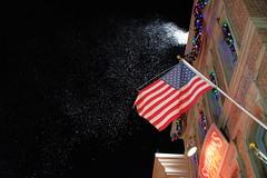 Snow illusion (MarcBphotos) Tags: theme park orlando snow american flag night light building universal studio christmas decoration macys parade florida iso 6400 xt20 18 55 kit lens artificial illusion