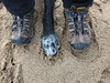 One of these things..... (Hodgey) Tags: dog paw josh shoes keens me sand beach