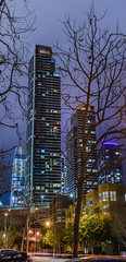 winter cityscape (pbo31) Tags: sanfrancisco california city urban nikon d810 color dark night february 2018 winter boury pbo31 panoramic large stitched panorama salesforce contemporary architecture lightstream motion traffic roadway skyline purple southbeach baybridge rinconhill vertical