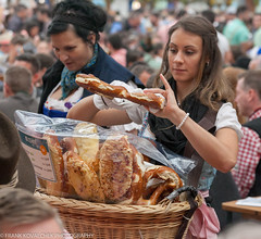 The pretzels are huge and good (Alaskan Dude) Tags: travel germany europe bavaria munich munchen oktoberfest beer art people portraits costumes fun
