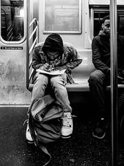 study hall (Web-Betty) Tags: nyc newyork newyorkcity bigapple manhattan subway city urban student bnw blackandwhite