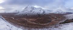 Buachaille Etive Mor from Stob Beinn a'Chrulaiste (Kyoshi Masamune) Tags: uk scotland scottishhighlands highlands mountain glencoe glencoevalley argyllbute argyllshire panorama wideangle rivercoe aonachdubh gearraonach beinnfhada bideannambian passofglencoe snow snowylandscape snowscape tokinaatxpro1116mmf28dxii tokina1116mmf28 ultrawideangle stobdearg sunrise beinnachrulaiste stobbeinnachrulaiste rivercoupall stobaghlaischoire a82