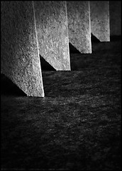 Choreography (Bob R.L. Evans) Tags: ipadphotography blackandwhite graytones lowkey formation defamiliarization balance symmetry pattern cardboard composition repetition