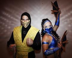 Scorpion and Kitana (Mortal Kombat) (greyloch) Tags: dragoncon cosplay costumes magmod 2017 gamecharactercostume gamecharacter canonrebelt6s niksoftware mortalkombat kitana scorpion