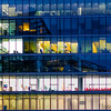 Inside Job (DobingDesign) Tags: interiorarchitecture windows storeys lines floors offices officebuildings officelife officecolours officefurniture london corporaterealestate working latenightworking bluehour pattern stripes glass blinds reflection architecture window building