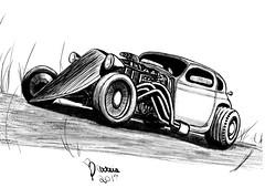 Hot Rod (andremilla.am) Tags: sketch carro ipad desenho car procreate ink draw hotrod