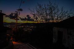 οδός Σεφέρη Seferi road (philippbenji) Tags: road alley sunset sityscape street contrast tree colors colorful view shadows pelion volos greece
