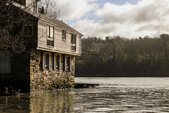 Rising Damp? (mlomax1) Tags: thestraits 80d anglesey canoneos80d cymru dwrcymru eos80d menaistraits river wales water welsh welshwater ynysmon canon cloud northwales outdoor house building architecture trees reflection explored23022018