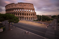 Crossing the street at the Colosseum in Rome, Italy (Tim van Woensel) Tags: coliseum colosseum rome roma italy italia flavian amphitheatre sunset crossing nd filter long exposure imperial landmark iconic