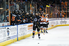 "Kansas City Mavericks vs. Ft. Wayne Komets, March 2, 2018, Silverstein Eye Centers Arena, Independence, Missouri.  Photo: © John Howe / Howe Creative Photography, all rights reserved 2018 • <a style=""font-size:0.8em;"" href=""http://www.flickr.com/photos/134016632@N02/26768688048/"" target=""_blank"">View on Flickr</a>"