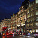 Busy Regent Street at night