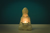 16/365   Zen (Robin Penrose - Canadian eh?) Tags: 201801 zen mood light project365 365the2018edition candle aqua flickrfriday lettherebelight
