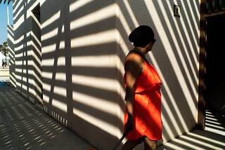 Red between shadows