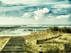 Horizon. (Ldv Müh ♫) Tags: sea ocean seascape sky cloud bluesky beach nature water vegetation summer winter country land horizon wave