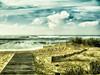 Horizon. (Ludovic Mühlhauser) Tags: sea ocean seascape sky cloud bluesky beach nature water vegetation summer winter country land horizon wave