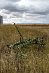 2017-09-15_14-30-04 Old Farm Implement (canavart) Tags: prairie alberta nanton canada couttscentreforwesterncanadianheritage landscape clouds storm farm fields rustic machine harrow green