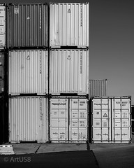 Colorful Containers (ARTUS8) Tags: blackwhite nikon24120mmf40 industrie flickr nikond800 industry schwarzweis