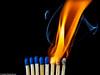 Macro Monday #Flame (J.Weyerhäuser) Tags: macromonday flame streichholz hmm flamme studio macro match smoke rauch blau orange