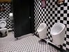 Two Urinals (Kombizz) Tags: 143222 kombizz 2018 london frankiebennys frankiebennysrestaurant mobilephonetaking mobilephonecapture londondesigneroutlet wembleyparkblvd wembley ha9 totosquarechequer totosquarechequertiles twourinals two urinals toilet childurinal adulturinal boyurinal