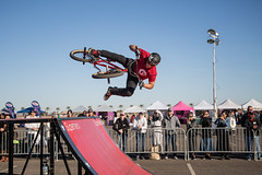 Getting Sideways (Brad Prudhon) Tags: 2018 arizona bmx balloon bicycle classic goodyear january superherostuntteam bike jumps riders show stunts tricks