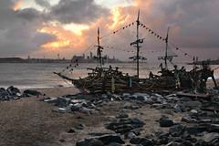 The Black Pearl (PentlandPirate of the North) Tags: blackpearl pirateship newbrighton flotsam driftwood merseyside liverpool