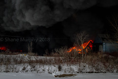 Major Industrial Fire at Vinyl Works in Port Colborne, Ontario (Shane B. Murphy - Photographer) Tags: fire multiple alarm blaze inferno flames fully involved smoke showing structure burning firefighting firefighter tanker pump aerial ladder water hose canada ontario onfire ont niagara mutual aid rural region municipality port colborne vinyl works vinylworks six 6 multi police nrps ems niagarafire black dense strutural collapse perimeter scenic cold winter snow embers large enormous crazy insane huge wtf